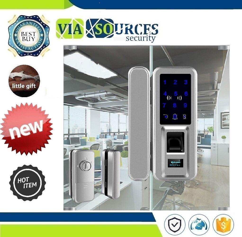 Écran lcd pour La Maison Bureau Coffre-Fort Biométrique serrures de porte serrure biometrique écran tactile Sans Clé serrure intelligente avec Clavier