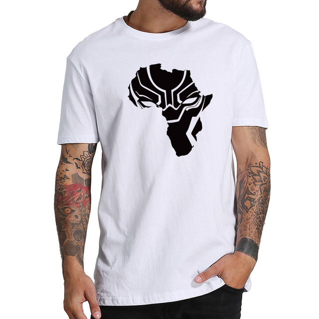 d76a168306f4 Black panther t shirt Africa Map Fresh Design mens t-shirts Printing  camiseta Gift Cartoon Fans of the Boys Of Summer tops