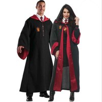 Adult Couples Potter Robes Ties Gryffindor Cosplay Costumes Cloaks Scarves Cape Halloween Carnival Outfit Costume For Men/Women