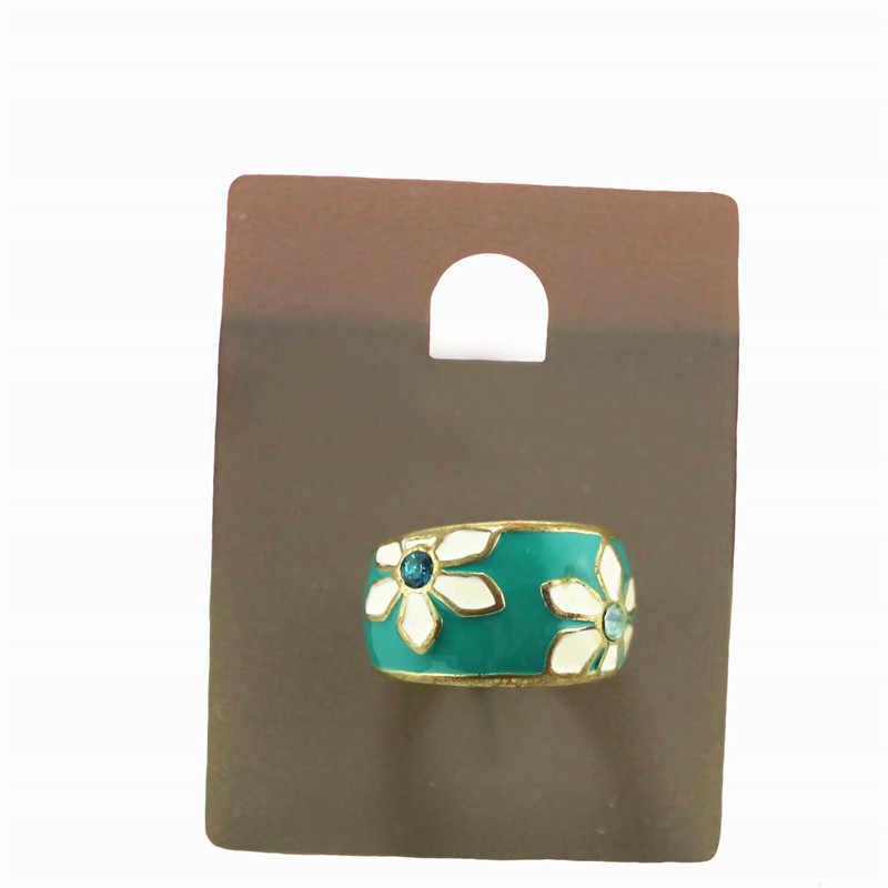 XQ גבירותיי תכשיטים העמודים פרח מוגזם גדול אישה טבעת לבן חיקוי פרל מדד אצבע טבעת אדום