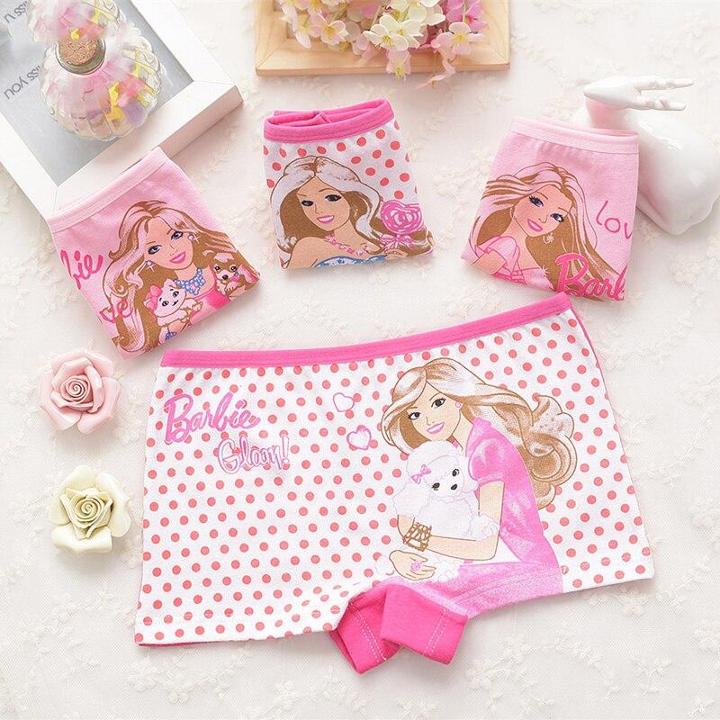 4pcs/set Cotton Boxer Briefs Girls Underwear princess Children Kids Baby  Panties Wholesale 1