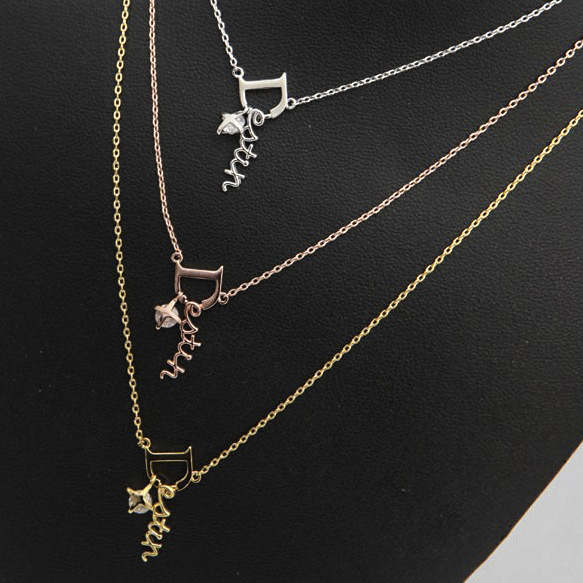 Necklace Women Korea God Alone And Brilliant Goblin S925 Silver Rose Gold Necklace 2018 Fashion Long Pendant Statement Jewelry