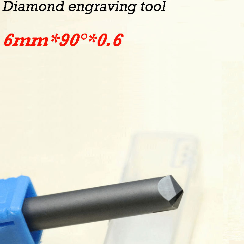 1pc 90 degree CNC diamond cutter carving tools stone router bits free shipping cnc router stone and wood engraving bits 1pc 45 60 90 degree 6mm pcd bit cnc diamond hard granite tools