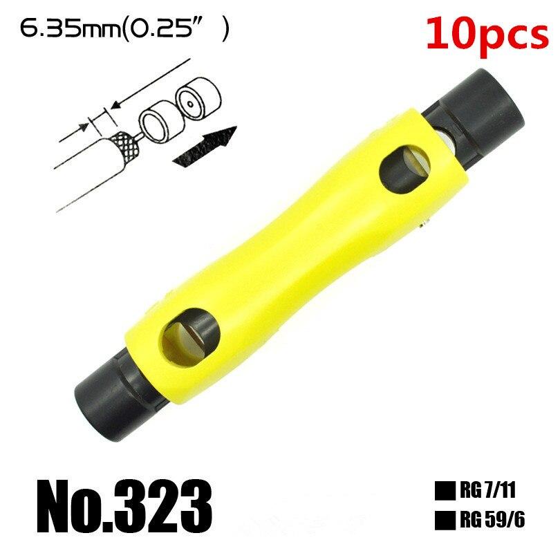 2x Rg6 Rg59 Rg11 Coax Koaxialkabel Crimper Stripper Kompression Hand Werkzeug Einstellbar Koaxialkabel Kabelklemmzangen Stripper Werkzeug Zangen