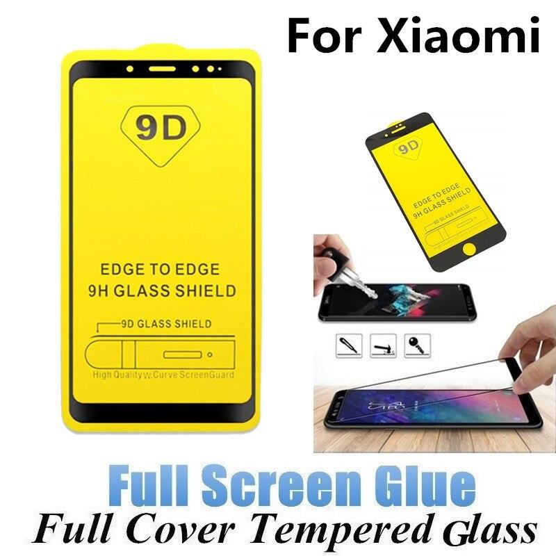 100Pcs Full Glue Tempered Glass For Xiaomi Redmi Note 7 Pro Note 4X 5A 6A 7A