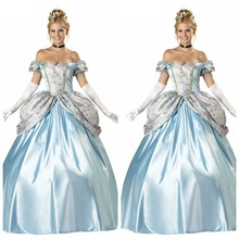 2018 European court costume Sissi Halloween princess dress Cinderella cosplay