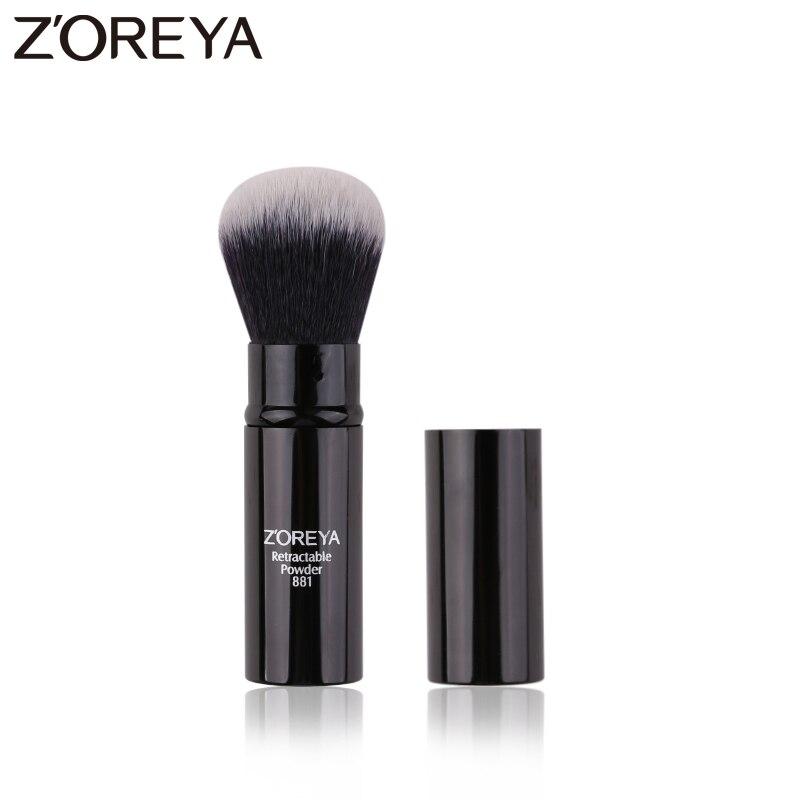 Zoreya Brand New arrive Expansion Black Synthetic Hair brush professional women Retractable makeup Brush tools Powder Brush