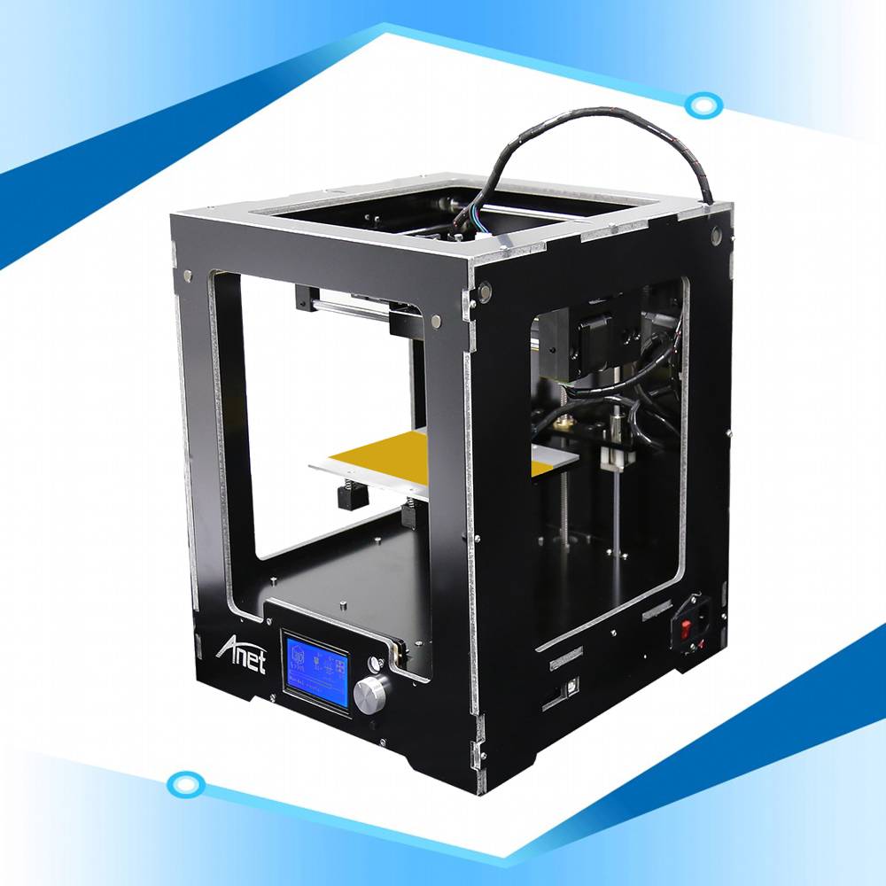 Anet A3S Assembled Metal 3d Printer Aluminum Composite Panel Casing 12864 LCD Screen PLA 3d Printer 0.1mm Print Precision боксеры emporio armani боксеры