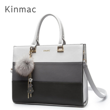2020 Fashion Lady Bag Kinmac Brand PU Leather Handbag Messenger Laptop Bag 13 inch, Case