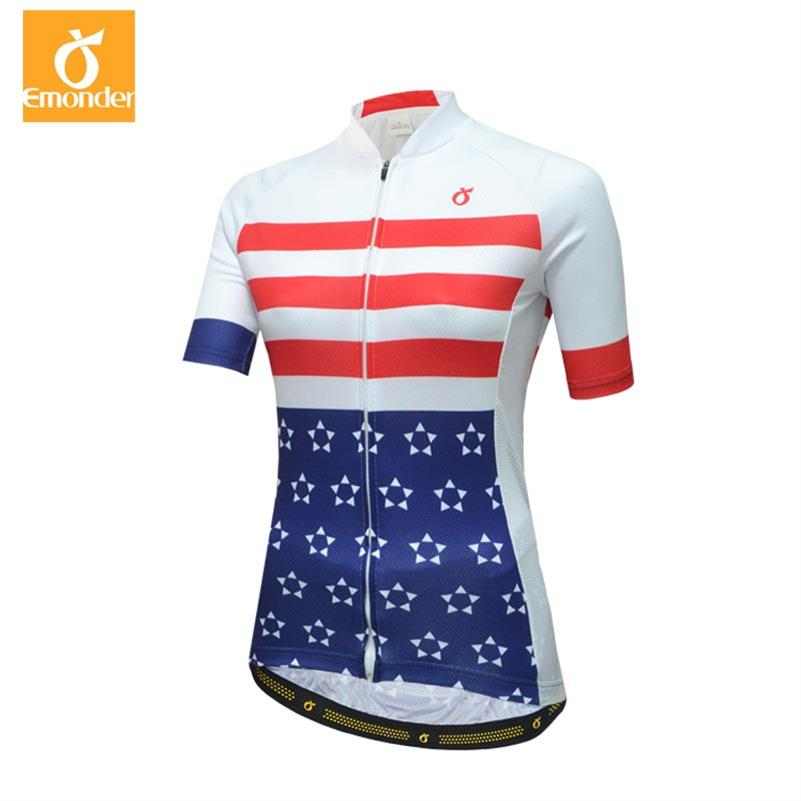42c6d5d9b EMONDER Pink Short Sleeve Cycling Jersey Set Women Summer Quick Dry Bicycle  Clothes Ropa Ciclismo Breathable MTB Bike Clothing-in Cycling Sets from  Sports ...