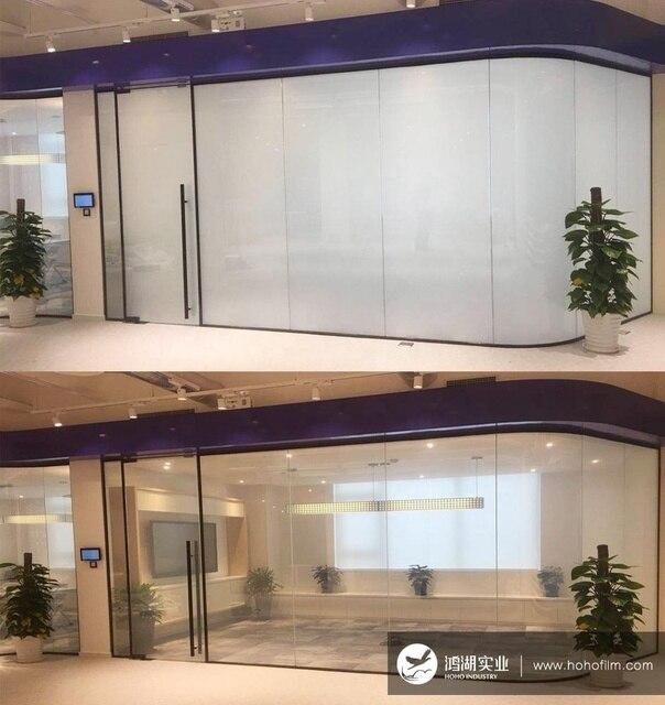 HOHOFILM-Film intelligent PDLC 120mm x 500mm | Film intelligent, en verre, pour fenêtre et bâtiment, commutable, pour la maison, le bâtiment et lhôtel