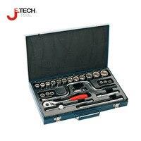 Jetech 24pcs 1/2 DR metric craftsman deep socket wrench set with ratchet adapter kit automotive tool lifetime guarantee