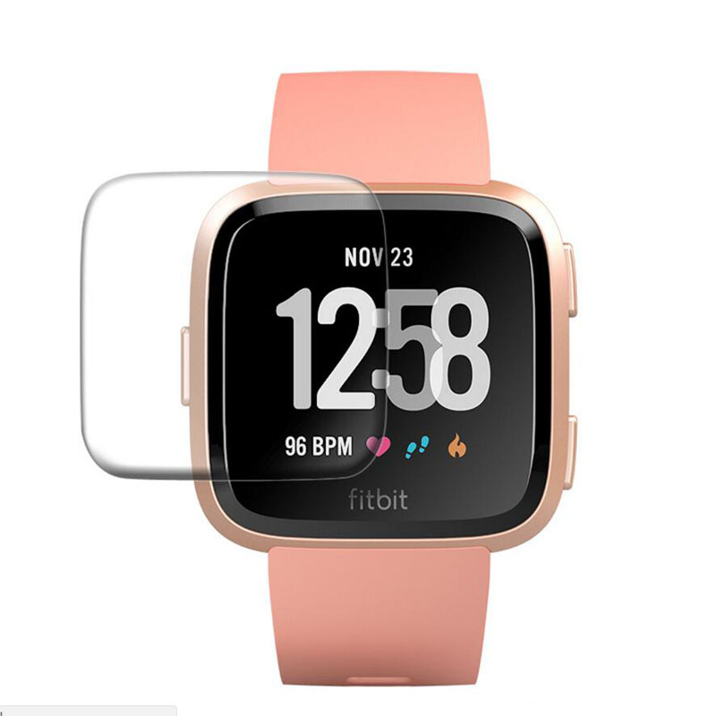Tempered Glass Clear Protective Film Guard For Fitbit Versa / Versa Lite Sport Smart Watch Toughened Full Screen Protector Cover