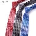 2017 nova Marca Terno de Negócio dos homens Empate Magro 6 cm Pescoço gravata de Poliéster Laços De Seda para Homens Listrado & Plaid Impresso Floral gravata