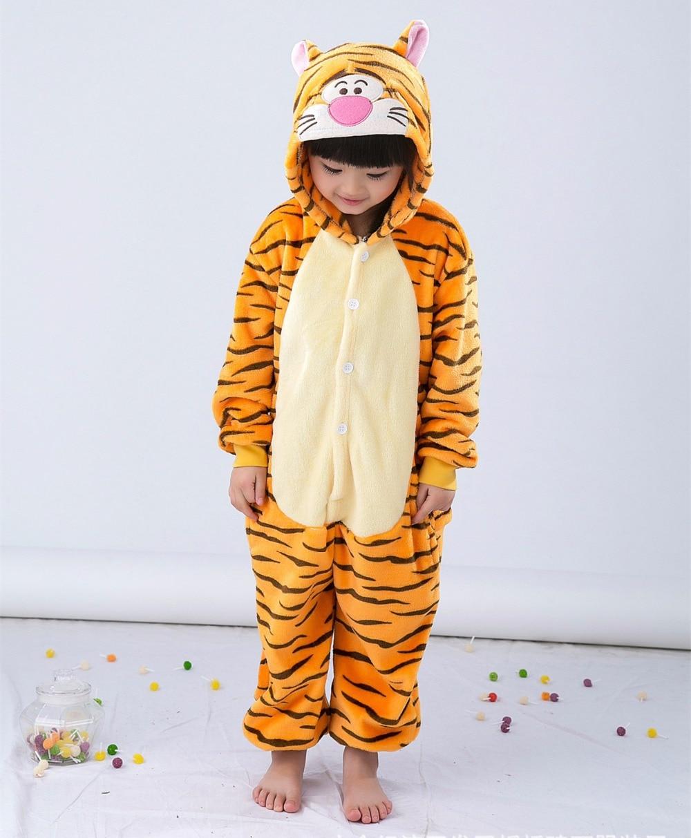 Uşaqlar üçün Tiger Kigurumi Uşaqlar Onesie Pijama Cosplay - Karnaval kostyumlar - Fotoqrafiya 5