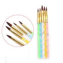 5pcs Nail Brushes Acrylic Painting Brushes Dotting Tools Professional Nail Drawing Decorations Manicure Pen Brush Set Polish Tip