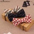 Men's Polyester Cotton Bowtie for Wedding Gentlemen Business Bow Tie England Plaid Striped Neck Tie Skinny Gravatas Cravat
