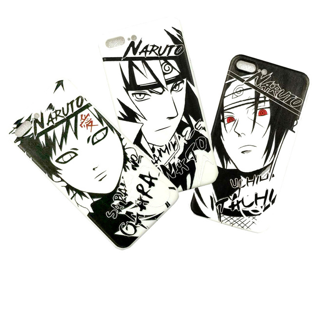 LUOYY FENJJ Anime Naruto Matte Silicone Case For iPhone 6 6s Plus Cover Soft TPU Protect Phone Case For iPhone 7 8 Plus X Coque