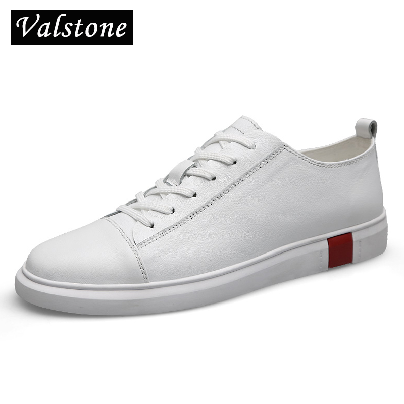Valstone Luxury Men s Genuine leather shoes 2019 Spring natural leather sneakers Quality designer footwear lace