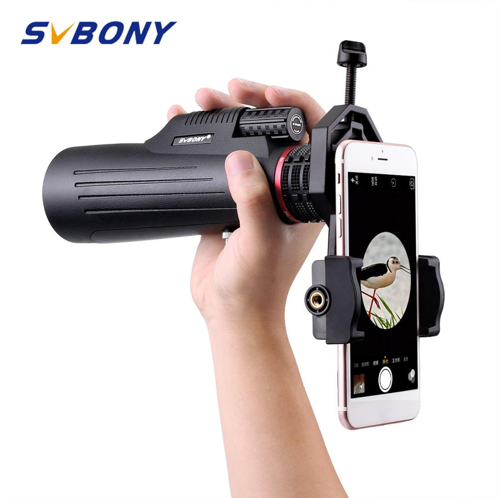 SVBONY SV12 Monocular 8 24x50 Zoom Telescope FMC Prism w Cellphone Adapter For Hiking Camping Birdwatching