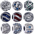 Flower AAA Crystal Beads fit for Pandora 925 Sterling Silver Charm Round Beads 2016 New Summer