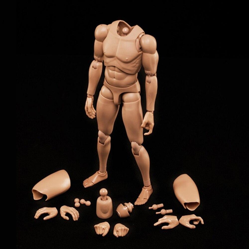 1/6 escala figuras militares 1/6 Série Asiática tom de Pele Do Corpo Masculino MX02-B corpo de resina modelo Frete grátis