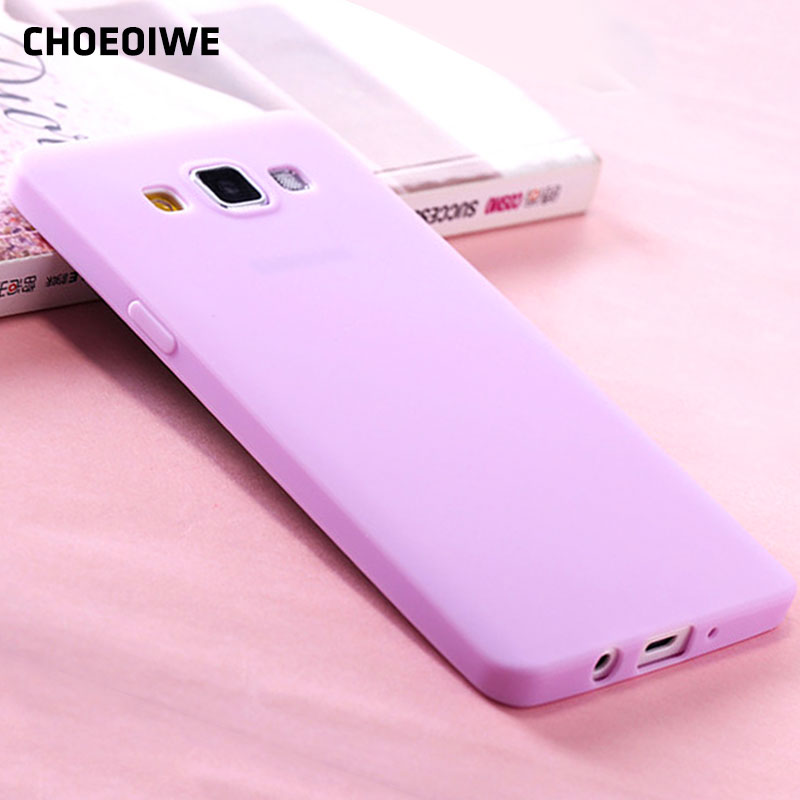 CHOEOIWE Ultra Thin Soft Silicone Cases for Samsung Galaxy A3 2015 A3000 A300 A300F SM-A300F 4.5inch Candy Color Case Cover image
