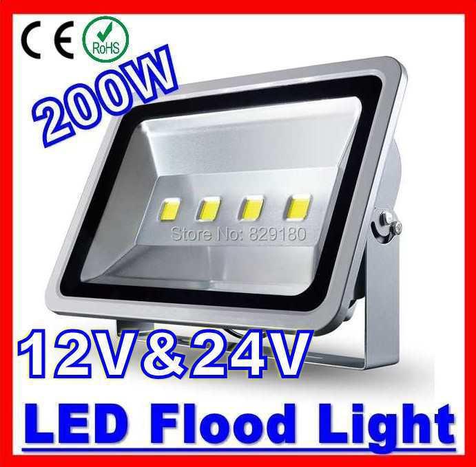 цена на 2 Pieces/Lot 200W LED Flood light 12V 24V Warm White Cool White Waterproof Spotlight Projection lamp Home Garden solar Light