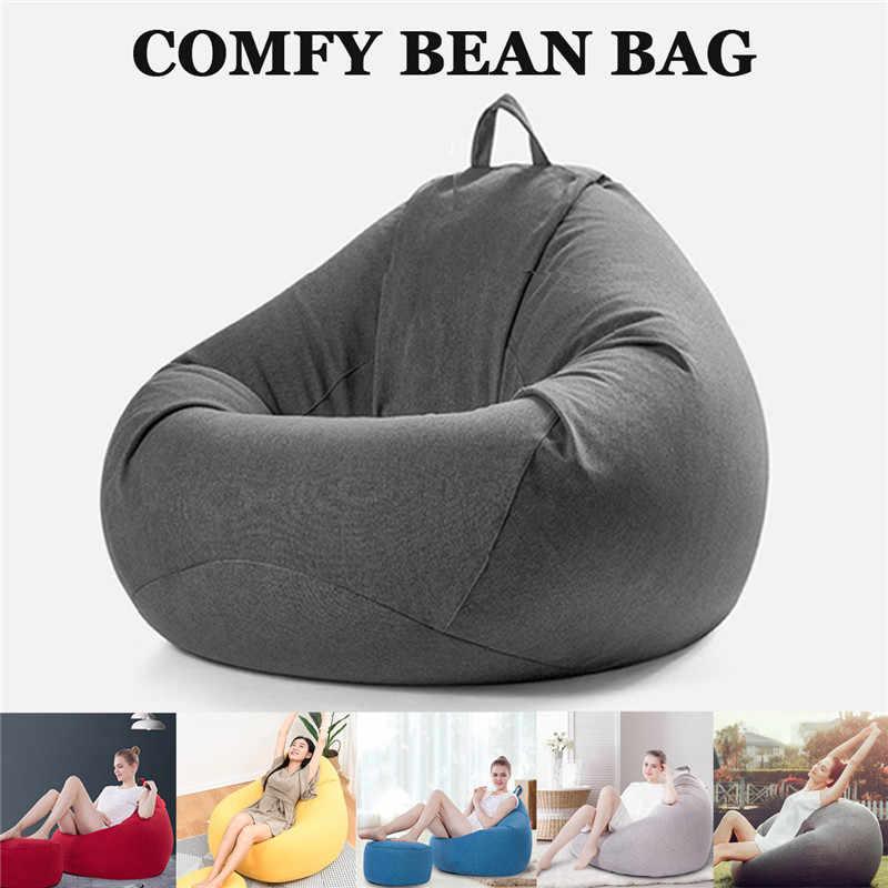 Bean Bag Bank Signle Stoel Cover Lounger Bank Poef Seat Kamer Meubels Zonder Vulmiddel Zitzak Bed Poef Bladerdeeg Bank Lazy tatami