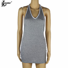 Lei SAGLY Fashion Women Sexy Nightclub Dress Baceless Halter Summer Sleeveless Clothes
