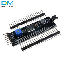 Placa conversora módulo expansor para arduino, mcp23017 1602 2004 12864 lcd i2c iic twi spi placa adaptador de interface com arduino pino de pino