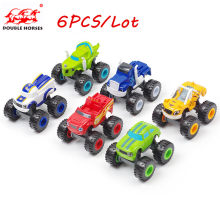 6PCS Toy racing car Blaze Monster Diecast Toy Racer Cars Trucks Action Figure OPP Bags for Kid Gift(China)