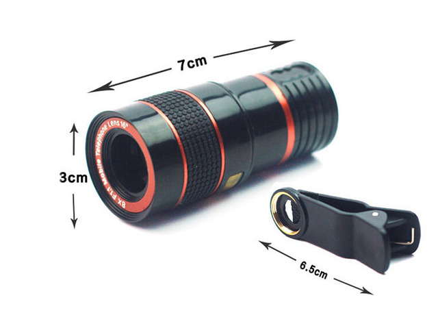 Clip telescope mobile phone lens telephoto len for motorola