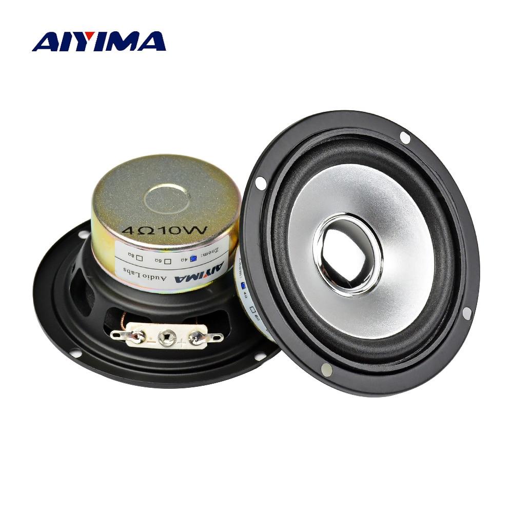 AIYIMA 2 stücke 3 Zoll Audio Tragbare Lautsprecher Voll Palette 10 watt 4Ohm Altavoz Portatil Lautsprecher DIY HIFI Lautsprecher Stereo heimkino