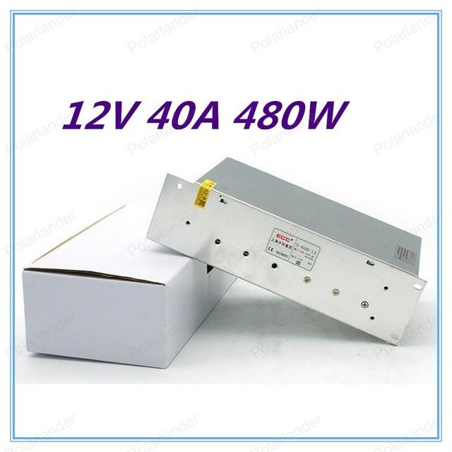 12 V 40A 480 W Interruptor de fuente de Alimentación de doble salida de Conmutación Unidad de fuente de alimentación Para la Exhibición Led Strip envío gratis