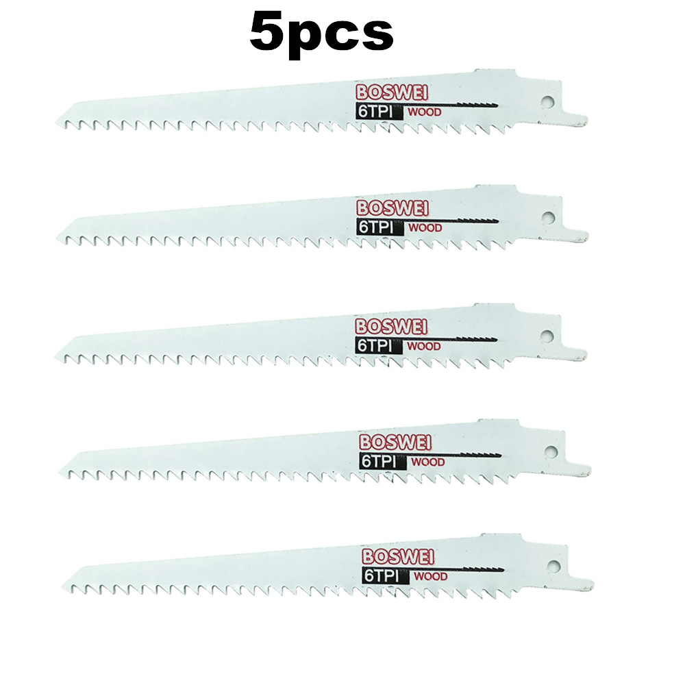 Promotion 5 Pcs Reciprocating Saw Blade 6''/150mm Jig Saw Blades For Wood Cutting Woodworking Tools Power Tool Accessories