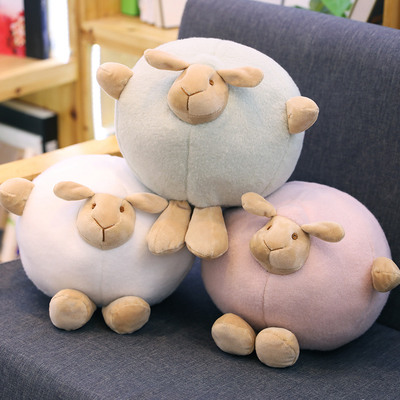 Candice guo plush toy stuffed doll cartoon animal sheep lamb ball pillow cushion neck protect office rest nap gift present 1pc