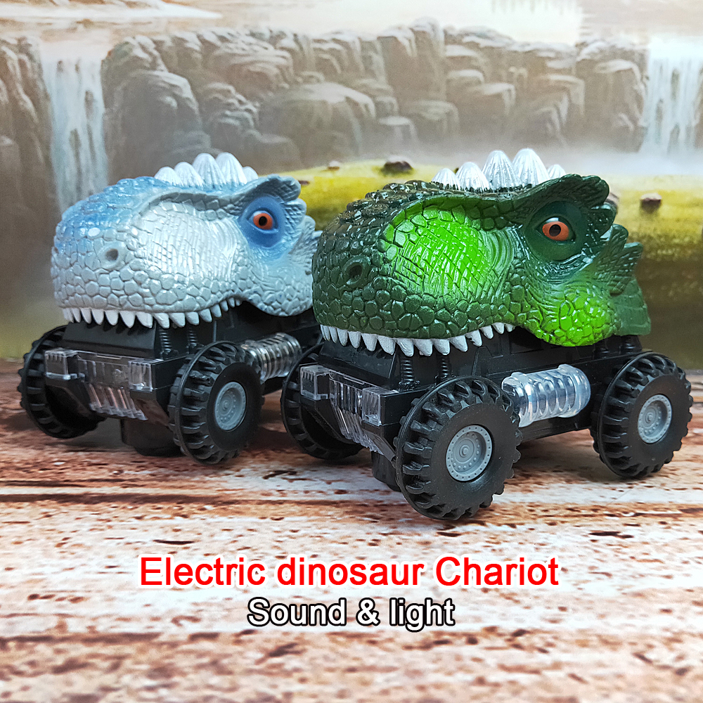 New Animal Children Gift Toy Electric Dinosaur Model Toys & Dinosaurs For Games With Big Tire Wheel Of The Car Gift For Kids
