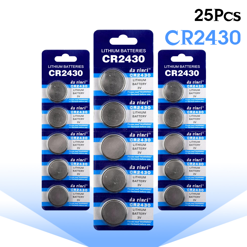 YCDC coin CR2430 battery 25pcs Original Wholesale CR 2430 DL2430 ECR2430 L20 3V Button Battery For Watch Toy Headphone led