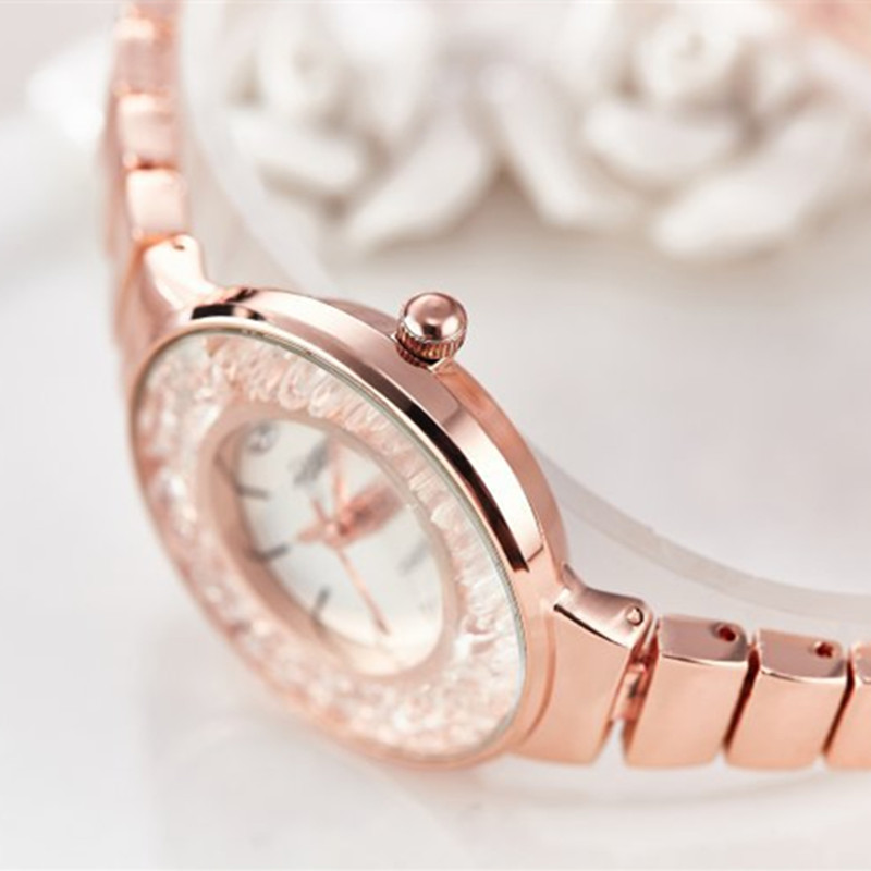 JW Fashion Women 39 s Wrist Watches with Diamond Golden Watchband Top Luxury Brand Ladies Jewelry Bracelet Clock Female Gift 2019 in Women 39 s Watches from Watches