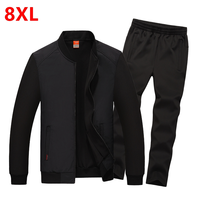Autumn new fertilizer plus size suit South Korea silk jersey suits men s sportswear big yards