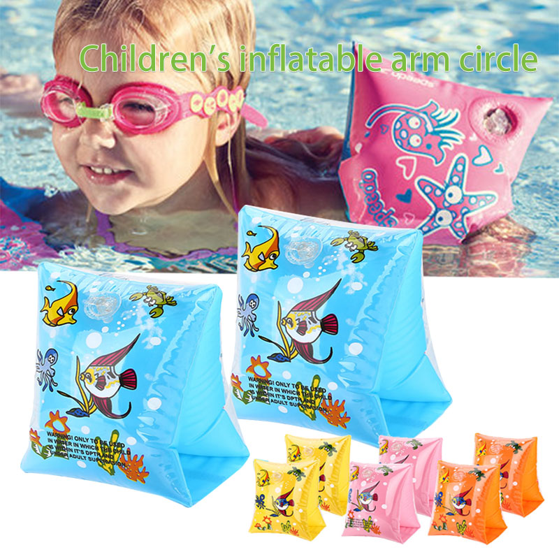 2018 Baby Arm Float Sleeves Swim Ring Swimming Circle Armlets Inflatable Swimming Pool Accessories For Baby Kids Swim Circle