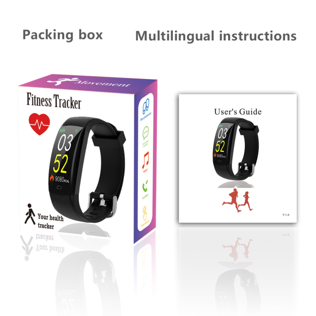 Smart Fitness Waterproof Bracelet Heart Rate Monitor Pedometer Activity Tracker Wristband For Android IOS Phone
