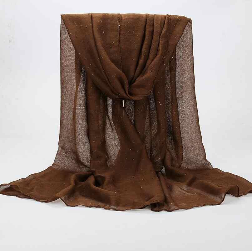 2019 nuevo liso hijabs para mujeres viscosa chal sólido brillante oro bufanda musulmán cabeza envoltura elegante bufandas 20 colores plus tamaño
