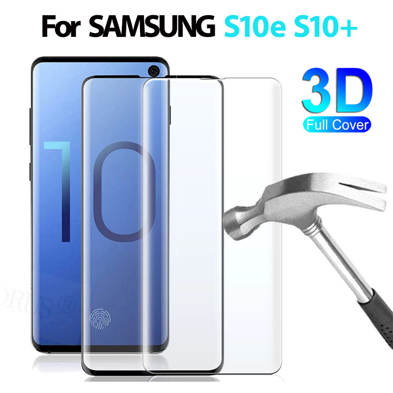 3D Full Curved Screen Protector For Samsung Galaxy S10e S10 Plus Tempered Glass For Samsung S10 S10 Plus Protective Film