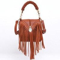 Brand Tassel Shoulder Bag Female Vintage Crossbody Bags For Women 2018 Bucket Bag Handbags Designer Scrub Daily Sac