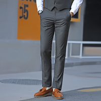 2018 Spring And Summer New Men's Professional Business Dress Trousers Casual Handsome Slim Trend Fashion Simple