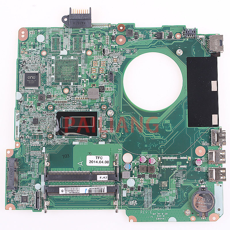 PAILIANG Laptop motherboard for PAVILION 15 N PC Mainboard I3 DA0U83MB6E0 tesed DDR3