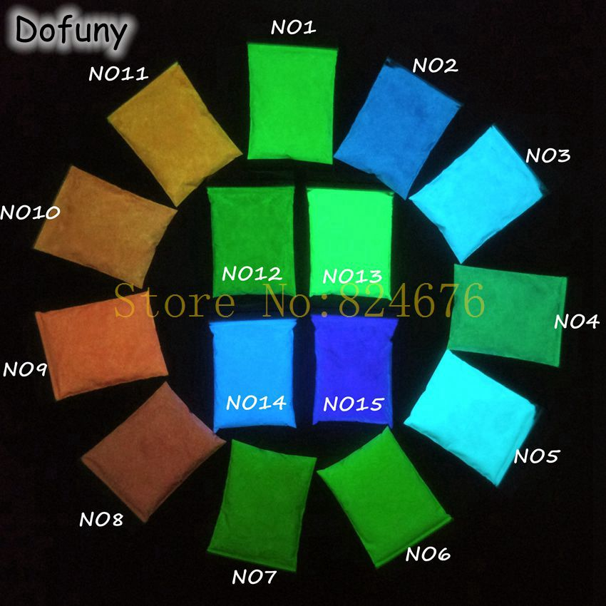 Pó luminoso do fósforo do pigmento das cores da mistura, brilho fotoluminescente do pigmento no brilho do prego do verniz do pigmento do revestimento da noite