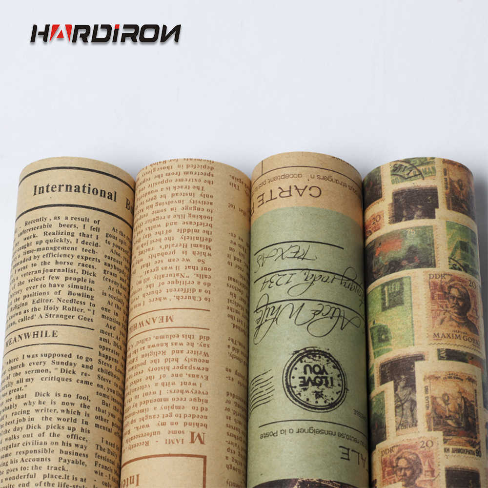 HARDIRON 52x75cm 20PCS/40PCS Vintage English Newspaper Bag Flower Paper Gift Flower Wrapping Paper
